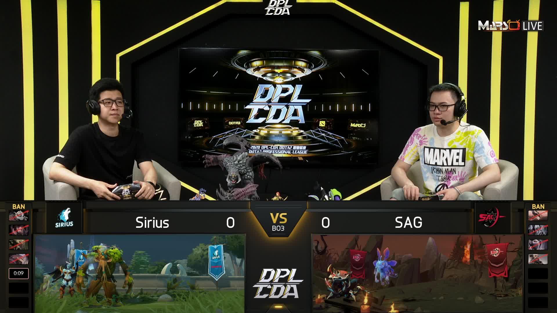 常规赛 SAG vs Sirius - 1