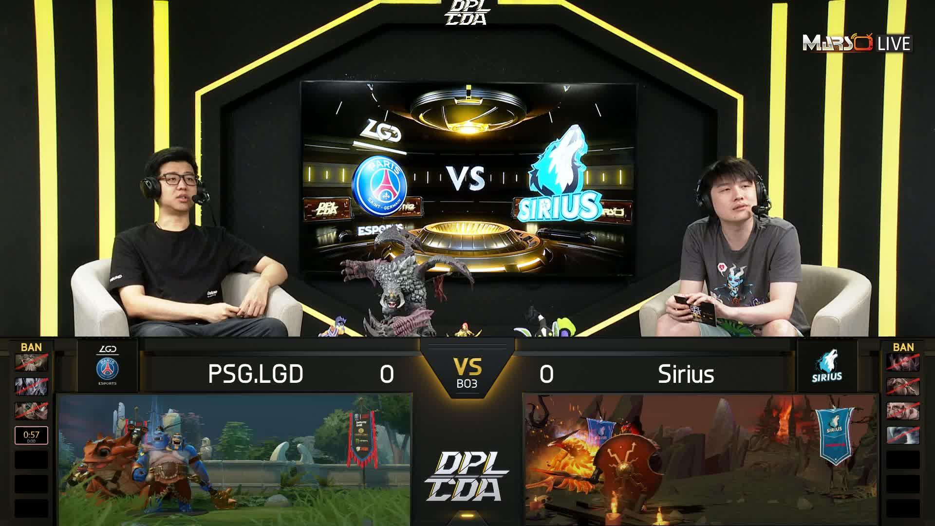 常规赛 PSG.LGD vs Sirius - 1
