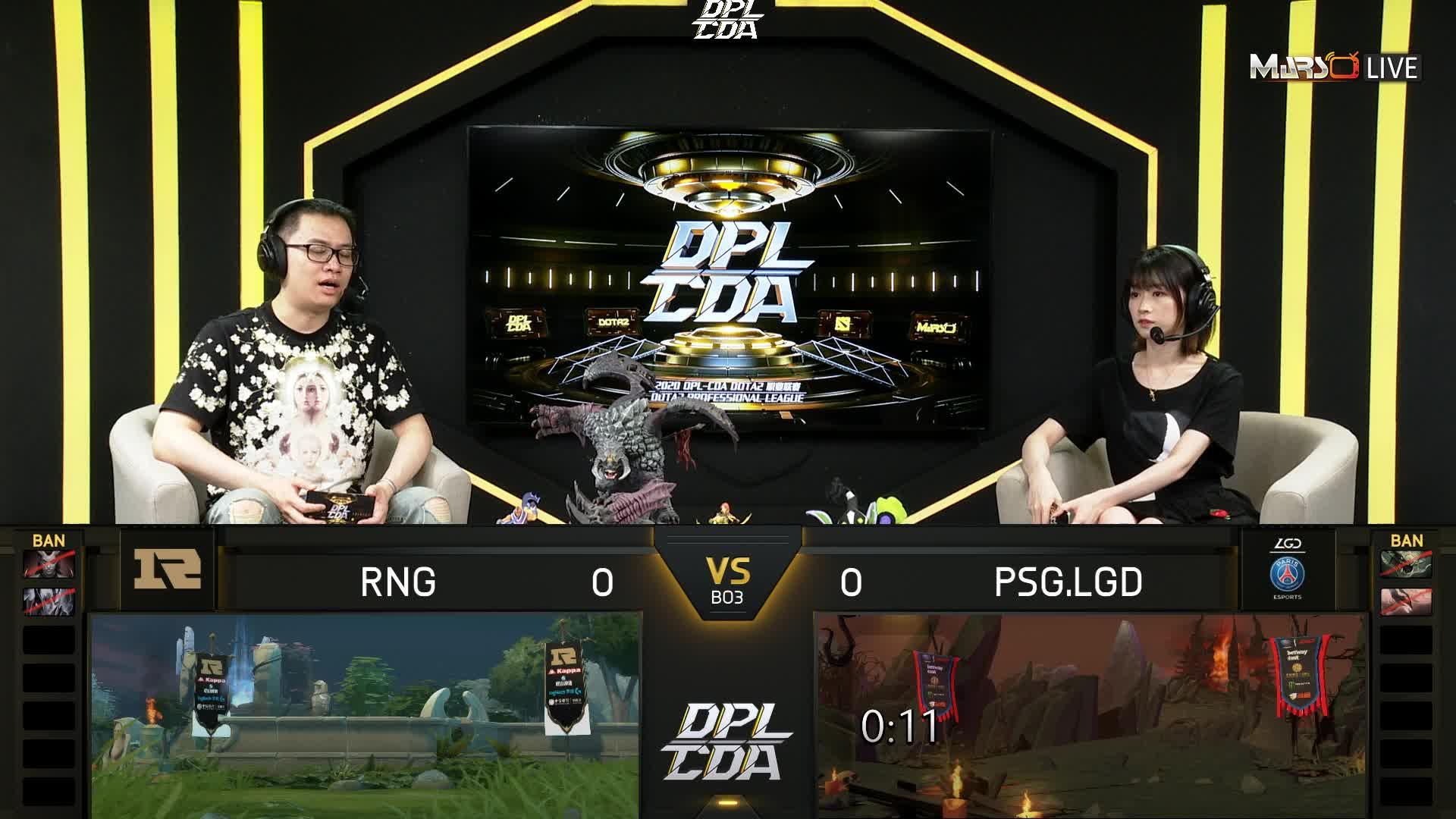 常规赛 PSG.LGD vs RNG - 1
