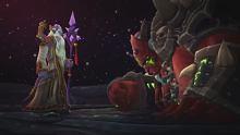 魔兽7.2.5 中英版-萨墓基尔加丹最终动画,阿古斯直面艾星(2)