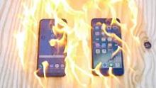 啊好烫!刚出锅的Galaxy和IPhone,耐高温性能谁更强