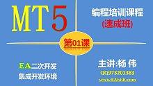 MT5编程培训速成班课程01