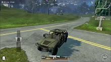 光荣使命:两车相撞飞天落地一顿扫射,对方怕是看懵了!