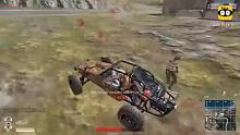 绝地求生:这是我见过最牛的反杀,被击倒后,用汽车杀了2个人