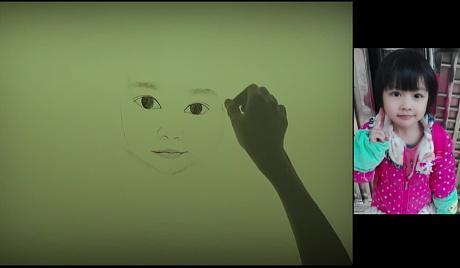 【可爱小萌妹】一个水友给妹妹订的肖像沙画.可爱吧.