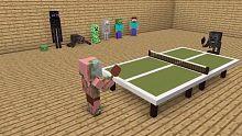【我的世界】动画CG 怪物学校之乒乓球比赛
