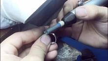 铂金戒指镶嵌