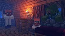我的世界动画 这是一场村民和僵尸斗智斗勇的大戏!#3