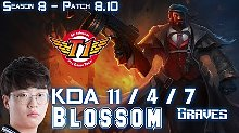 Blossom 8.10版本男枪打野VS伊芙琳排位比赛