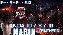 TOP MaRin 8.10版本上单盘丝精彩排位比赛