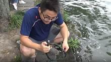 用强磁到西湖打捞的第三天,看看小伙又捞到了什么