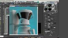 3DMAX灯光材质渲染教程-磨砂材质调节