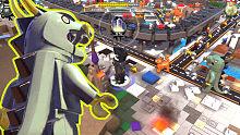 《乐高旋风忍者》22 机甲龙破坏城市 游戏结束小彩蛋「游乐熊」