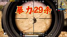 刺激战场丨暴力29杀吃鸡直径卢姥爷,决赛圈也要用awm秀敌人!