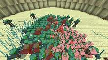 Drowned vs Zombie Pigman - Minecraft Mob Battle