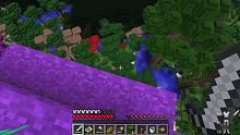 我的世界生存27 屠殺藍色史萊姆 天騏來到被詛咒陰影森林