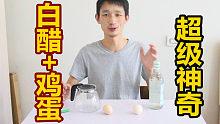 """小事视频:""""白醋加鸡蛋""""会发生奇怪事情"""