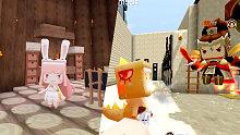 入江闪闪迷你世界小游戏:职业对战之熊出没-武器居然伤害不一样实力没用好气啊