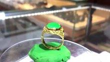 直播中做的黄金戒指