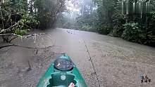 渔乐生活家钓鱼:暴雨中的急流玩路亚,真是越钓心情越舒畅!