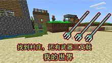 我的世界生存02:刚落户安家就发现村庄,还发现了武器三叉戟