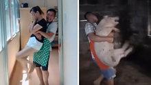 Big笑工坊-公猪抱哈哈哈,简直是哄女朋友的杀手锏啊