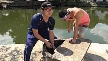 池塘边儿废弃的老井,用强磁打捞一下看看能捞到什么