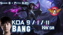 SKT T1 Bang 卡莎 vs 卢锡安