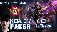 SKT T1 Faker 妖姬 vs 丽桑卓