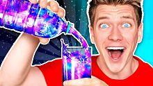 【搞怪实验】用南瓜瓤制作超炫荧光的史莱姆液体!视频最后美炸了
