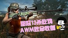 【甜瓜恰鸡啦】:AWM致命收割海岛13杀吃鸡!