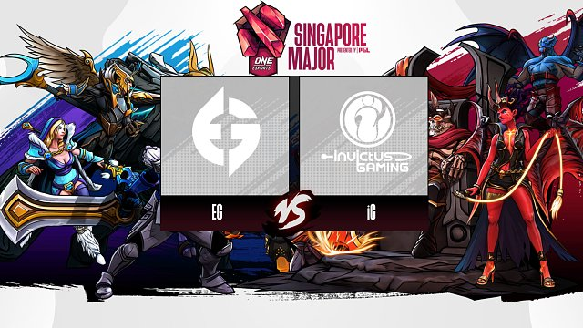 DOTA2 Singapore Major iG vs EG 第三场 4月4日